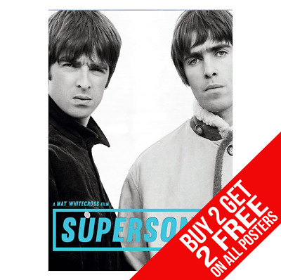 Oasis Supersonic Liam & Noel Gallagher Poster A4 A3 Print - Buy 2 Get Any 2 Free