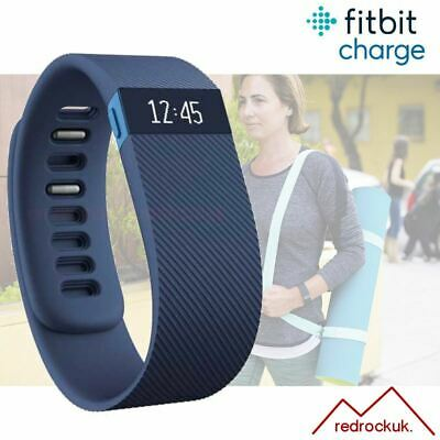 Fitbit Charge Fitness Activity Tracker Wristwatch Pedometer - Blue - Small