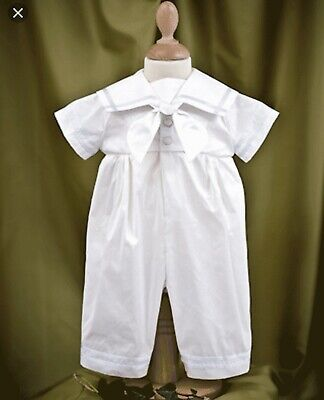 Angels & Fishes British Ivory Silk Christening Romper 3-6 Months BNWT RRP£119