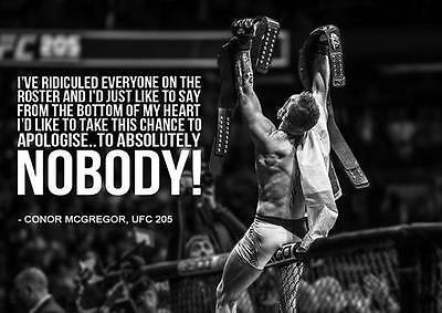 CONOR MCGREGOR UFC 205 QUOTE MMA Art Print Photo Poster A3 A4