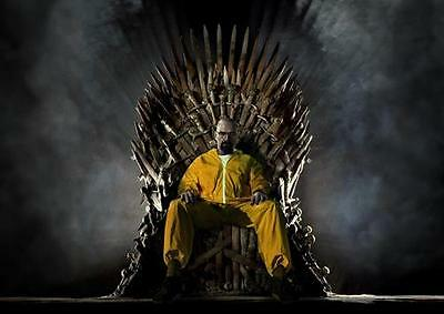 BREAKING BAD GAME OF THRONES Heisenberg Wall Art Print Photo Poster A3 A4