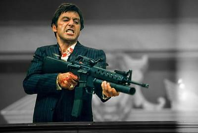 Scarface Tony Montana Art Pacino Canvas Picture A4 A3 A2 A1 Print Ready To Hang