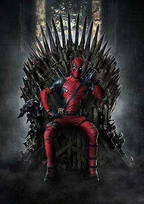 DEADPOOL / GAME OF THRONES  Marvel DC Wall Art Print Pic Photo Poster A3 A4