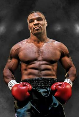 MIKE TYSON POSTER Boxing Gym Gloves Photo Print Picture Poster Wall Art A3 A4