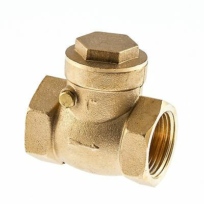 "Swing-Check Valves Non-Return.  Brass Female x Female BSP   Sizes 1/2"" To 4"""