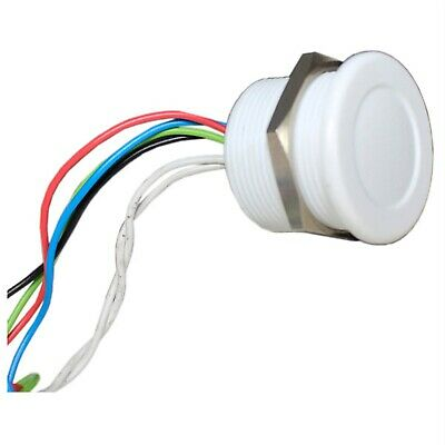 CamdenBoss CPS22IF-PLWH-12RGB Piezo Switch Plastic M22 White 12V Tri LED