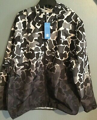 ADIDAS MENS JACKET Camo Jacket Windbreaker Size 2xl DH4805