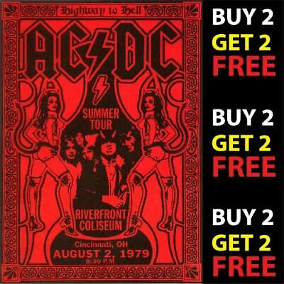 ACDC V2 VINTAGE BEST BAND ROCK ALTERNATIVE CONCERT MUSIC POSTERS A4 300gsm PRINT
