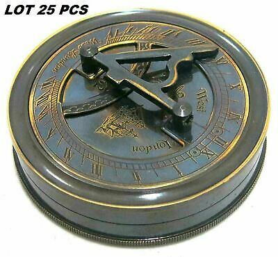 Lot of 25 Compass Sundial Antique Magnetic Brass Clock Poem Compass Unique
