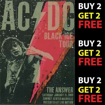 ACDC V3 VINTAGE BEST BAND ROCK ALTERNATIVE CONCERT MUSIC POSTERS A3 300gsm PRINT