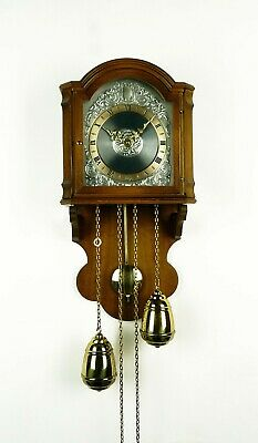 Junghans 2 Weight Wall Clock German Bell Chime TOP CONDITION  at 1960