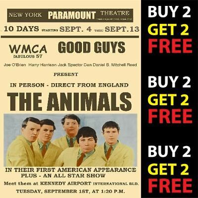 THE ANIMALS VINTAGE BEST BAND ROCK ALTERNATIVE CONCERT MUSIC POSTERS A4 300gsm