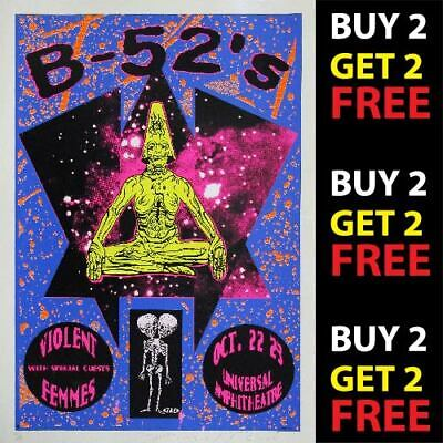 THE B-52's V1 VINTAGE BEST BAND ROCK ALTERNATIVE CONCERT MUSIC POSTERS A3 300gsm
