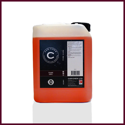 Carchem Tyre Gel High Gloss Tyre Long Lasting Sealant Tyre Dressing 5 Litres