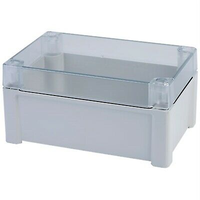 Fibox TA191209T Grey ABS Clear Cover 187 x 122 x 90mm