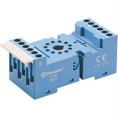 Finder 90.03 Relay Socket 250V 10A for 60.12 / 86.00 and 86.30 Series Relays