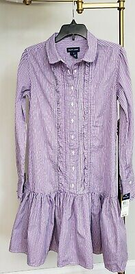 Nwt Polo Ralph Lauren Girls Polo Dress Longsleeve Size14  #131