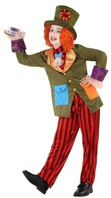 Boys Mad Hatter Alice in Wonderland Book Day Fancy Dress Costume Outfit 3-12yrs