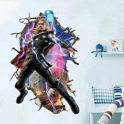 3D cartoon Avenger wall sticker for kids rooms children bedroom decals handsome