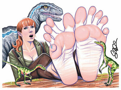 CLAIRE Barefoot Jurassic World 12x9 Pop Art Print Scott Blair