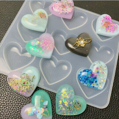 Resin Jewelry Liquid Silicone Mold Heart Pendant Molds for DIY Jewelry Making VU