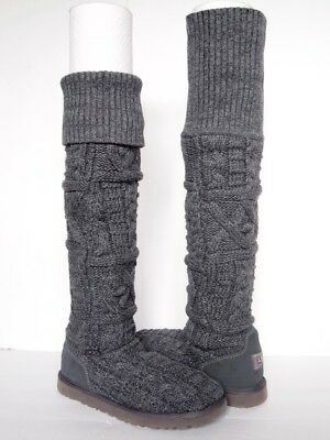 7f88326e77d UGG AUSTRALIA OVER the Knee Bailey Sparkles Black Sequin Boots NEW ...