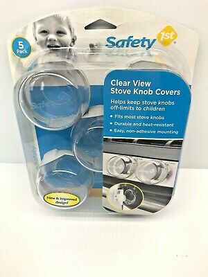 Clear View Stove Knob Covers for Baby& Kids Children Safety Secure Locks 5 Count