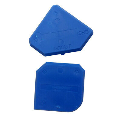 Set of 2 Caulking Tool Kit Blue Joint Sealant Edge Grout Remover Scraper