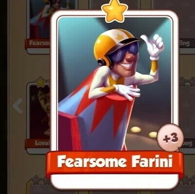 NEW Fearsome Farini Card Circus Set Coin Master FAST DELIVERY