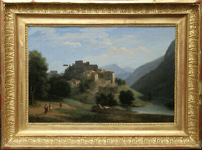 Jean Victor Bertin French 19Th Century Neo Classical Art Landscape Oil Painting