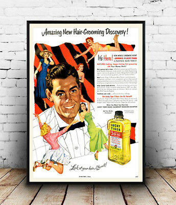 Wall art. advert Silvikrin : Reproduction magazine advertisment poster