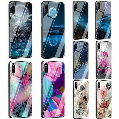 Colored Painting tempered glass TPU case for Xiaomi Redmi Pocophone F1
