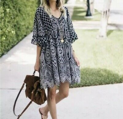 8aedba73c553 ANTHROPOLOGIE AKEMI + Kin Brooke Embroidered Dress Size 8 Eyelet ...