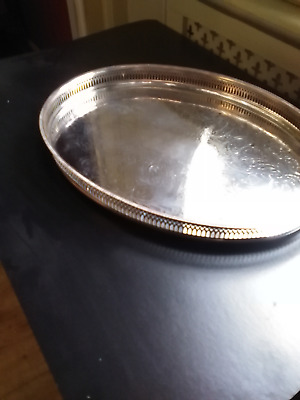 Large Vintage Silver Plated Gallery Tray  -  Cavalier Plate