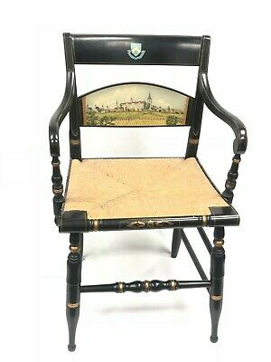 Vintage Hitchcock Wooden Armchair Columbia University King's College Chair Crest