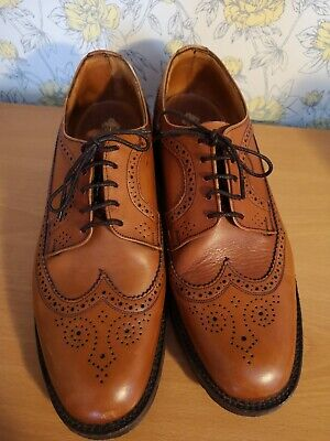 Mens Veldtschoen by Tecnic Brown Leather Brogues VGC  Made in England - UK 10