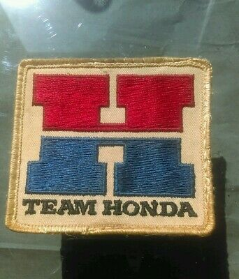 Team HONDA vintage 80's Trucker cap patch ripped off of hat