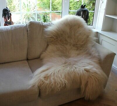 Vogar Cappuccino Decoration Genuine Sheepskin Rug with Soft Thick Wool VG-SH01