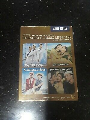TCM Greatest Classic Legends Film Collection Gene Kelly DVD, 2013, 4 Film Set