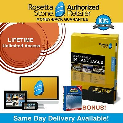 Rosetta Stone® German LIFETIME UNLIMITED Access Full Course Learn App FREE BONUS