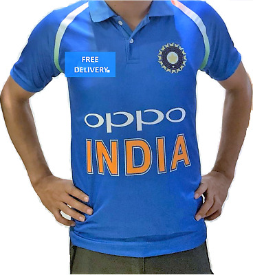 ddafb1b02 India Cricket T Shirt 2019 Odi Jersey Ipl Indian 2019 T20 World Cup Oppo  Offical