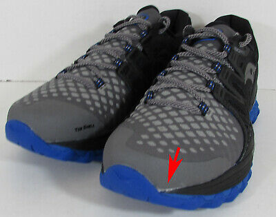 $130 Saucony Mens Xodus ISO 2 Neutral Running Shoes, Grey/Black/Blue, US 8.5