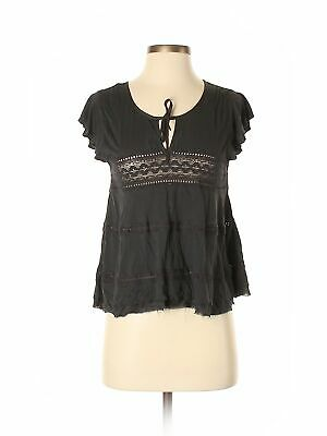 NWT American Eagle Outfitters Women Gray Short Sleeve Top Sm