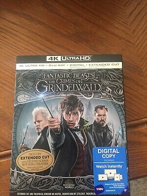 FANTASTIC BEASTS: CRIMES OF GRINDELWALD 4K Blu Ray with Digital & Slipcover