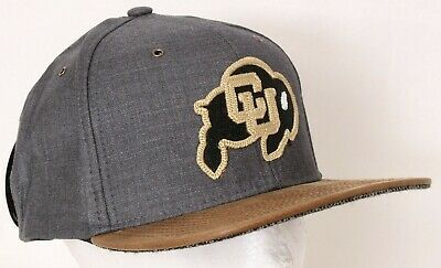 pretty nice 6c84d 774f1 NEW University of Colorado Buffaloes Gray Canvas Trucker Zephyr Cap Snapback  Hat