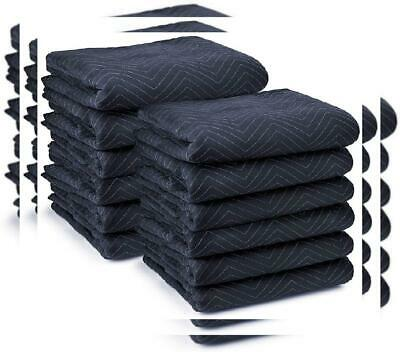 """Sure-Max 12 Moving & Packing Blankets - Pro Economy - 80"""" x 35 LBS, Navy Blue"""
