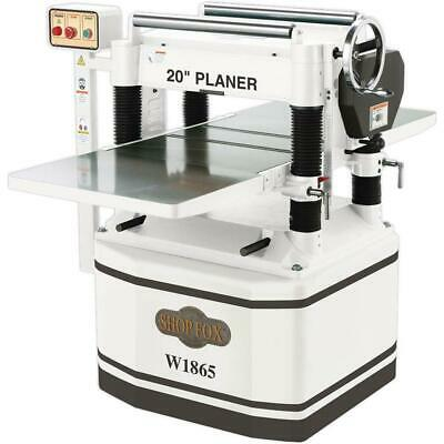 Shop Fox W1865 20-inch 5 Horsepower Planer with Sprial Cutterhead