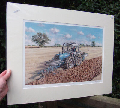 County 1184 Tractor, Push / Pull Ploughing - signed Art print by Steven Binks