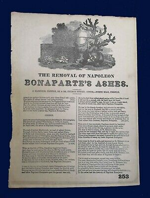 [early 19th century] Ballad – 'The Removal of Napoleon'