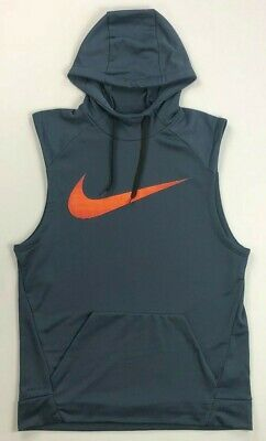 902a3ccfb NIKE DRY SLEEVELESS Training Hoodie Cool Grey Black New Dri-Fit XL ...